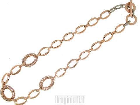 Elegante girocollo in bronzo e zirconi
