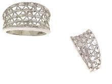 Fascia diamantata in oro bianco