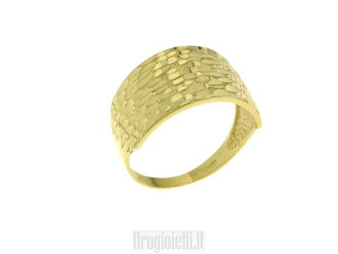 Anello Fascia per donna in oro giallo