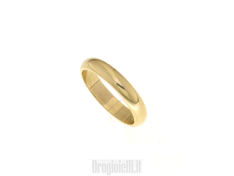 Fede classica per matrimoni oro giallo