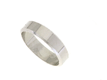 Fede francese in oro bianco 18 ct