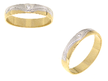 Fedi matrimoniali per gli sposi in oro