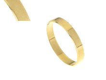 Fedina FRANCESE (piatta) in oro giallo mm.3.5