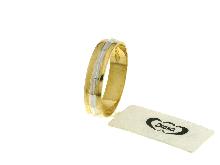 Fedina bicolore in oro 18 carati
