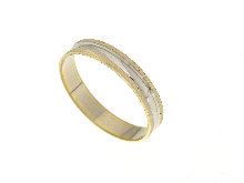 Fedina bicolore in oro 18 ct