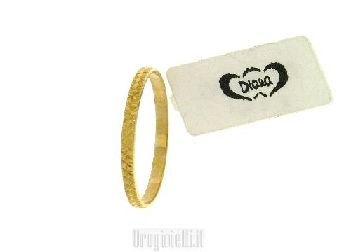 Fedina in oro giallo diamantata