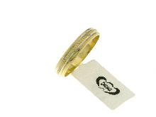 Fedina in oro giallo zigrinato