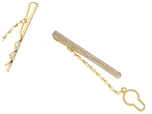 Fermacravatta in oro bicolore 18 kt