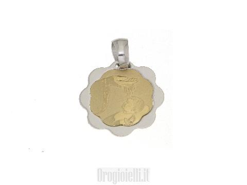 Fonte battesimale in oro bicolore