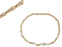 Gioielli Fratelli Bovo: Bracciale bicolore diamantato