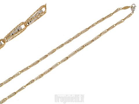 Gioielli Fratelli Bovo: Collana ORO bicolore diamantato