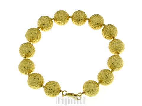 Gioiello donna di palle (sfere) grandi in oro giallo