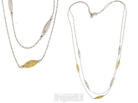 Girocolli NAOMI in oro bianco a più fili