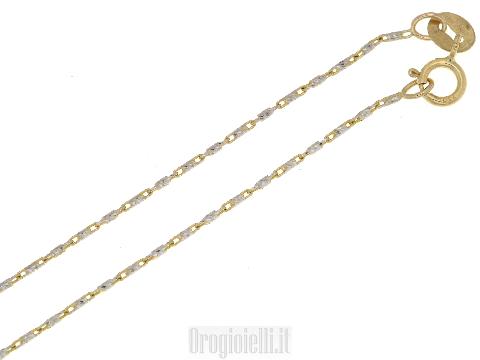 Girocollino bicolore in oro 18 carati