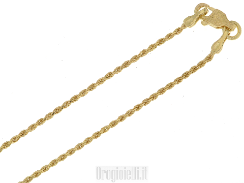 Girocollino corda in oro giallo 18kt (ct)