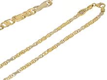 Girocolllo da uomo in oro bicolore 18kt