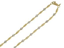 Gold Jewells: Necklace bicolor NOVELLO