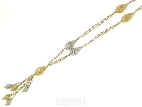 Gioielli in oro made in Italy - Girocollo NOVELLO in oro bianco e oro giallo