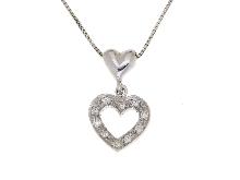 Girocollo con cuore in diamanti in oro