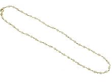 Girocollo con perline di fiume ovali