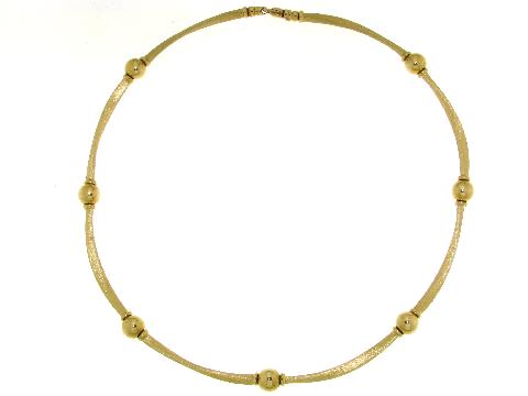 Girocollo con sfere in oro giallo