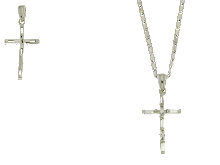 Gold Jewells: Necklace with CZ navette cut