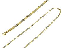 Girocollo da uomo in oro bicolore