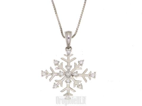 Girocollo fiocco di neve con diamanti