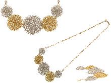 Girocollo in oro con fiori in  filigrana
