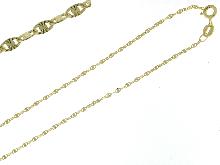 Girocollo in oro giallo 18 kt  ad elica