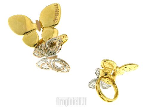 Gioielli arte moderna Anello Graziella doppia farfalla