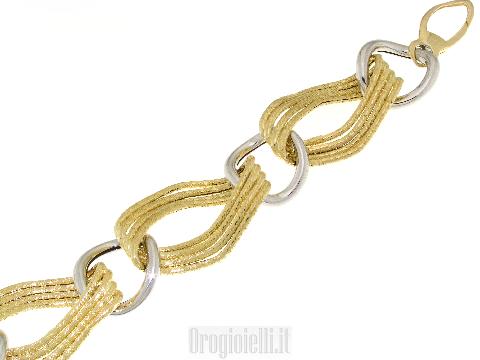 Gioielli in stile moderno Importante bracciale da donna a maglie in oro