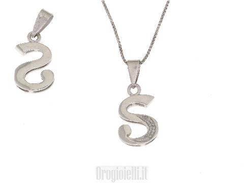 Iniziali lettere brillanti in oro bianco