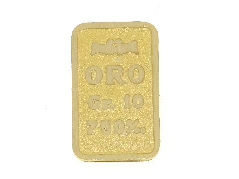 Lingotto in oro 18 carati