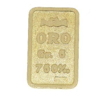 Lingotto in oro 750