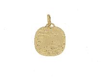 Medaglia STELLA fonte battesimale in oro