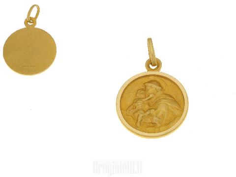 Medaglia Sant' Antonio Padova oro 18ct