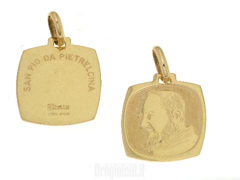 Medaglia Padre Pio in Oro SAN PIO