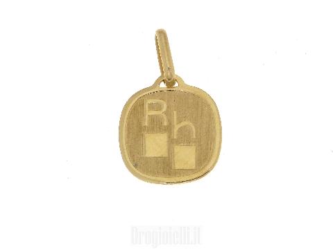 Medaglia  R H in oro giallo 18 carati