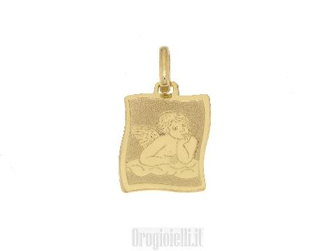 Medaglia angioletto per comunioni in oro