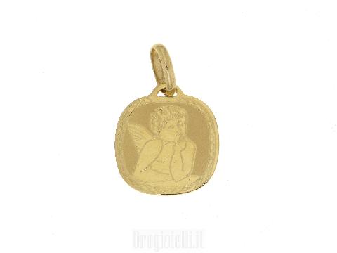 Medaglia con angioletto in oro 18 KT
