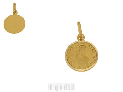 Medaglia sacra in oro Arcangelo San Gabriele
