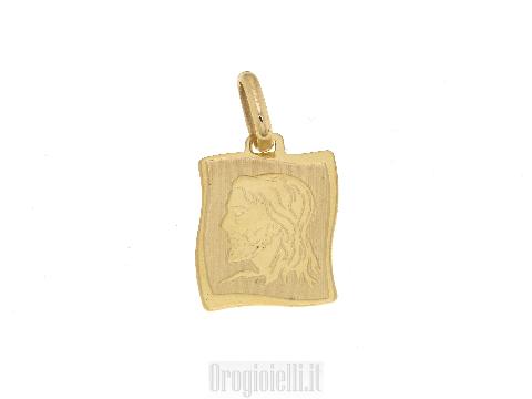 Medaglie sacre con cristo in oro 18 kt