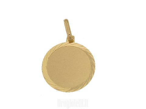 Medaglietta da incisione in oro 18 ct