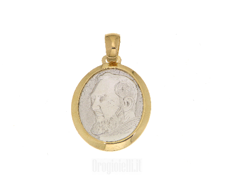 Medaglietta di Padre Pio in oro