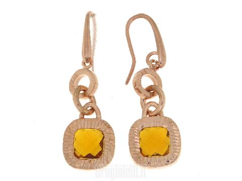 Orecchini Bigiotteria: Orecchini bronzo con citrino orange