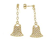 Orecchini PVZ  pendenti in oro bicolore