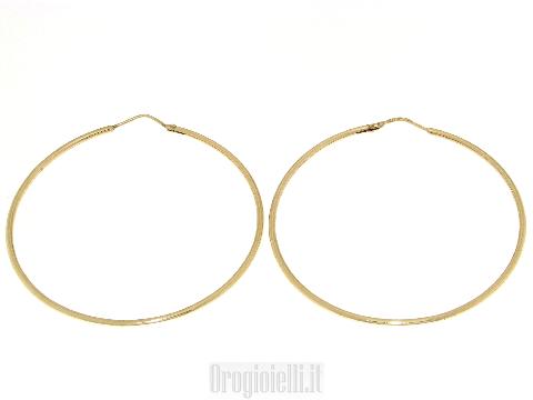 Orecchini a cerchio classici in oro 18kt
