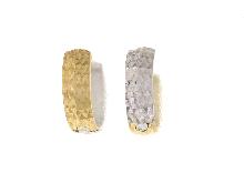 Orecchini a cerchio diamantati in oro