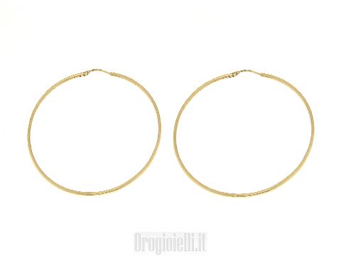 Orecchini Donna Lusso Orecchini a cerchio in oro giallo 18 kt